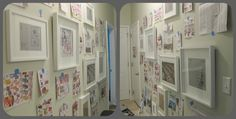 gallery wall, white frame collage wall