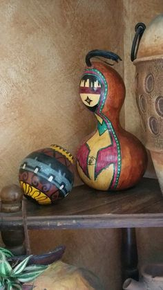 Gourd lady with water jug