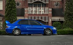 Wide-body Mitsubishi Evo 9 on SSR SP1 wheels. | Photos by Mitch Hemming Photography.