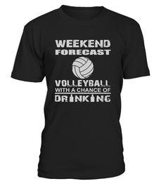 Weekend forecast volleyball  Funny Oktoberfest T-shirt, Best Oktoberfest T-shirt