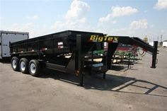 """Big Tex Trailers - 83"""" x 16' Triple Axle Low Profile Extra Wide Dump Trailer with combo gate and 7' Slide In Ramps  Model: 21GX-16"""