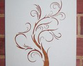 art nouveau tree stencil - Google Search