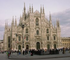 Milan Cathedral Dedicated To Santa Maria Nascente Saint Mary Nascent Dge Ter  C B Gothic Architecture