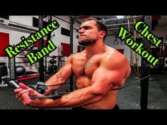 Intense 5 Minute Resistance Band Chest Workout - YouTube Resistance Band Training, Resistance Band Exercises, Best Chest Workout, Chest Workouts, Workout Meal Plan, Workout Routines, Chest Routine, Killer Workouts, Dumbbell Workout