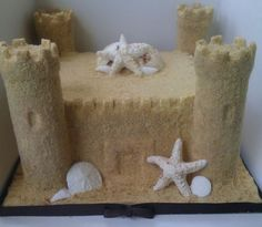 Sand Castle Cake Tutorial -  love this and much easier than I would have thought