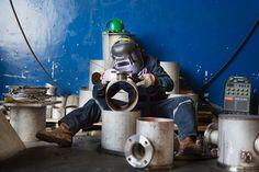 An outtake Industrial Annual Report shot of Aluminum welding at Strategic Marine in Vietnam. #canon #5d #industrial #shipping #welding #industrialphotographer #vietnam #hochiminhcity #hcmc #saigon #blue #corporate #corporatephotographer #asia #southeastasia