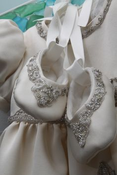 Shoes and Gown from wedding dress