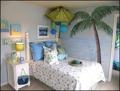 girls beach theme bedrooms