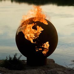 Third Rock Fire Pit Globe - you've got to check his website.  the artistic fire pits are incredible!