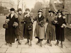 Roller-skaters, England, 1926.