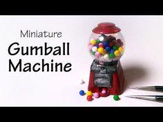 Cute Miniature (Working) Gumball Machine - Polymer Clay Tutorial - YouTube