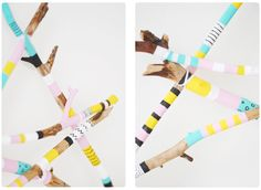 Pastill.nu: Decoration star from sticks and acrylic color