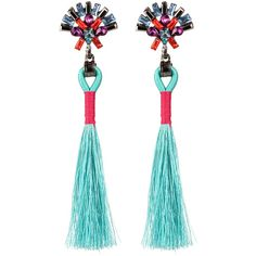 Tassel Drop Earrings With Rhinestone (€3,23) ❤ liked on Polyvore featuring jewelry, earrings, blue, blue jewellery, blue jewelry, fringe tassel earrings, tassel drop earrings and rhinestone jewelry