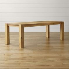 """Big Sur Natural 90.5"""" Dining Table   Crate and Barrel"""