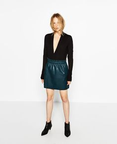 Image 1 of LONG SLEEVE CROSSOVER SWEATER from Zara