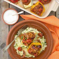 Grönsaker Marrakech med couscous och yoghurt. #hälsosam #mat Couscous, Healthy Eating, Mexican, Yoghurt, Ethnic Recipes, Mat, Marrakech, Food, Eating Healthy