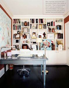 THIS is what I want my office to look like #bookshelves