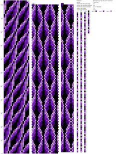 19 around bead crochet rope pattern Crochet Bracelet Pattern, Crochet Beaded Bracelets, Bead Crochet Patterns, Peyote Stitch Patterns, Bead Crochet Rope, Bead Loom Bracelets, Beaded Crafts, Beading Patterns, Beaded Crochet