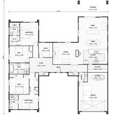Pavilion house plans nz h-shaped house plans nz the dunstan Dream House Plans, Modern House Plans, House Floor Plans, House Plans With Courtyard, Interior Courtyard House Plans, Best House Plans, U Shaped House Plans, U Shaped Houses, The Plan