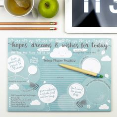 hopes dreams and wishes desk jotter by bread & jam | notonthehighstreet.com