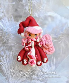 Handcrafted Polymer Clay Snow Girl Ornament