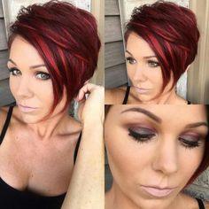 687 Likes, 53 Comments – Bonnie Angus ( – - Kurzhaarfrisuren Short Red Hair, Short Hair Cuts, Pixie Hairstyles, Pretty Hairstyles, Hair Color And Cut, Great Hair, Purple Hair, Hair Today, Hair Dos