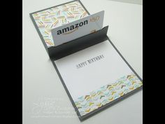 Pop-Up Gift Card Holder: YouTube Video Tutorial By Song of My Heart - Song of My Heart Stampers