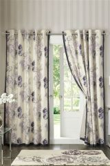 Collection Fleur Floral Eyelet Curtains (862103X53) | £55 - £135