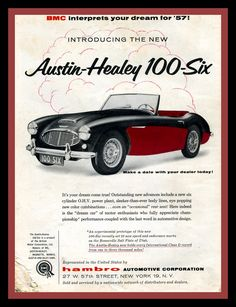 austin-healey, but mine was red over black