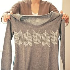 DIY Arrow Tail Stamped Shirt