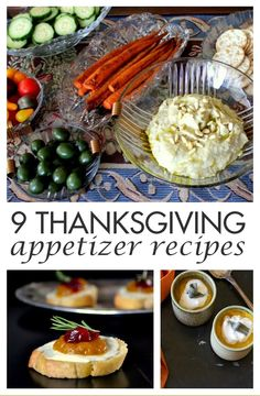 Need ideas for entertaining on Thanksgiving day? Try these 9 lovely and delicious Thanksgiving Appetizer Recipes that your guests are sure to love!