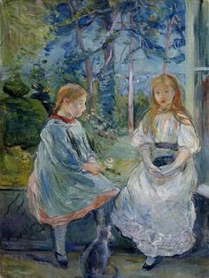 Berthe morisot - Little Girls at the Window (Jeanne and Edma Bodeau). 1892.