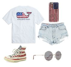 4th of July by egloomis on Polyvore featuring polyvore, fashion, style, Converse, Casetify, Forever 21 and clothing