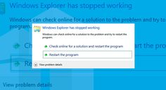 This time we will show how to fix Windows Explorer Has Stopped Working error, which is common for all OS versions users (since XP and up to Windows 10)