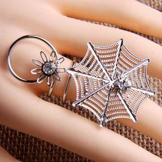 Rose gold Rings  Rings Spider Web Shape  Rings