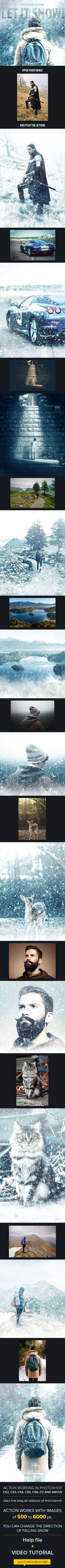 Let It Snow - Photoshop Action - Photo Effects Actions More