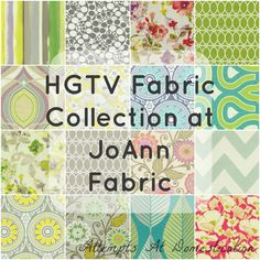@HGTV HOME #fabric at @Jo-Ann Fabric and Craft Stores! Love this collage by @Ashley | Attempts At Domestication :) She shares a #coupon, too!