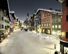 Kitzbuhel in winter - famous Austrian ski village