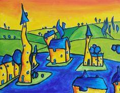 Fantasy English Landscape by Simon Bramble