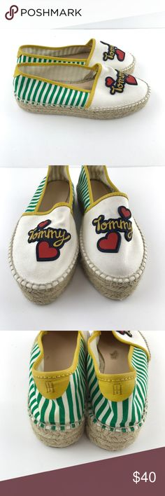 TOMMY HILFIGER COTTON ESPADRILLE  SLIP ON SHOES TOMMY HILFIGER COTTON ESPADRILLE  SLIP ON SHOES SIZE 40 or US 10 ~VN2400 Tommy Hilfiger Shoes Espadrilles