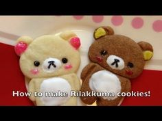 How to make Rilakkuma cookies! for some reason I just think these would be awesome at a baby shower