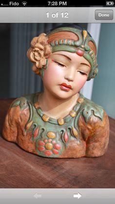 Leon Fighiera chalkware bust
