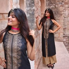 Instagram Indian Look, Dress Indian Style, Indian Dresses, Indian Outfits, Indian Wear, Traditional Looks, Traditional Outfits, Indian Fashion, Boho Fashion