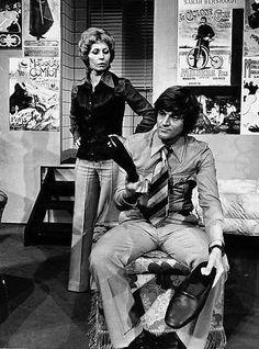 Willeke Alberti en Jeroen Krabbe in een scene uit het blijspel 'Slippers, 5 oktober 1973