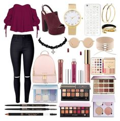 """Sin título #382"" by frichu on Polyvore featuring moda, Jessica Simpson, MICHAEL Michael Kors, Linda Farrow, Pieces, Michael Kors, Anastasia Beverly Hills y tarte"