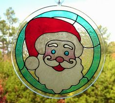 Santa stained glass for the window