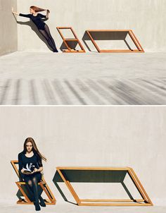 """""""Hold On"""" Tilting Furniture by XYZ Integrated Architecture."""