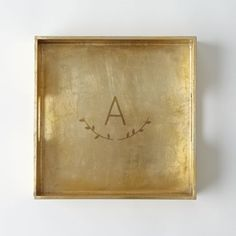 pretty gold monogrammed trinket tray 25% with code SUPERSALE #BlackFriday http://rstyle.me/n/t577zr9te