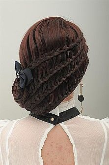 3 layers of waterfall braids
