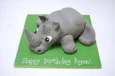 Rhinoceros cakes | ... think a rhinoceros could be so cute? The Rhino Cake......